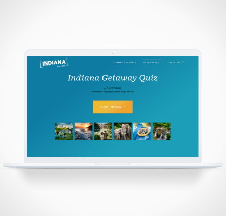 first page of a quiz for Indiana Tourism